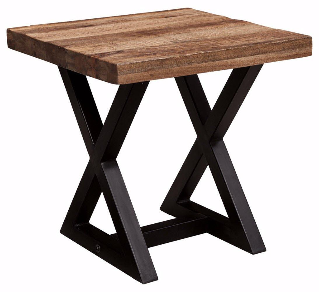 Ashley Furniture Signature Design - Wesling End Table - Square - Vintage Casual - Light Brown