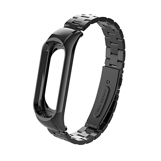 para Xiaomi Mi Band 3 Pulsera Ligera de Acero Inoxidable de Moda Correa de Reloj Inteligente
