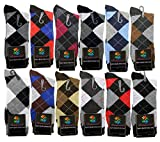 USBingoshopTM Mens Cotton Dress Socks (10-13, Argyle)