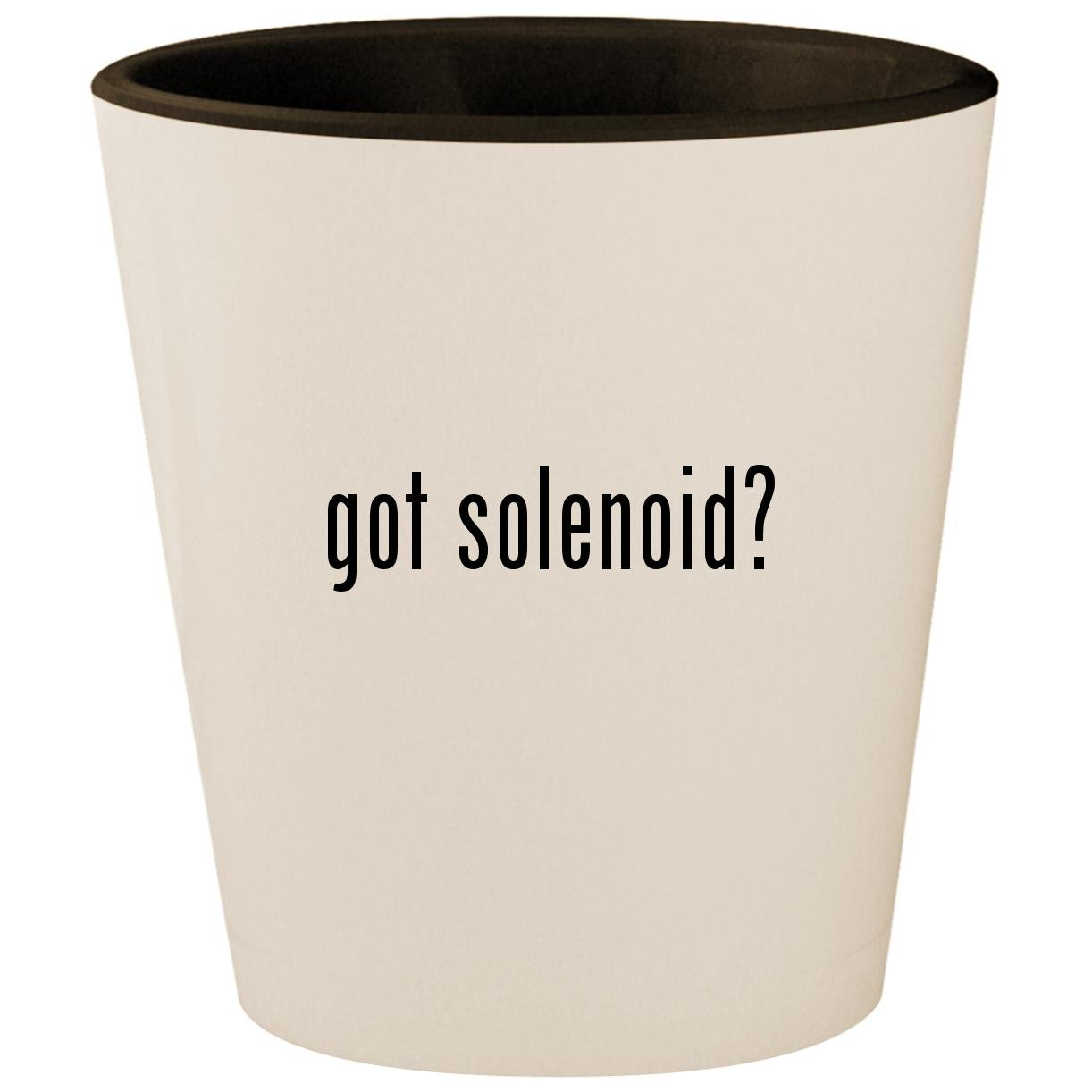 got solenoid? - White Outer & Black Inner Ceramic 1.5oz Shot Glass