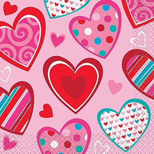 Day Beverage (Bright Hearts Valentine's Day Beverage Napkins, 16ct)