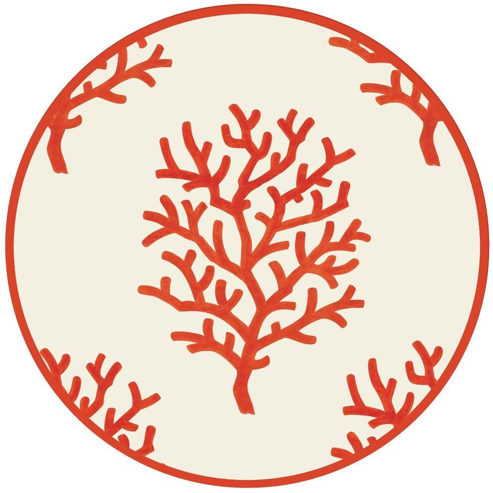 Coastal Christmas Tablescape Décor - Coral ivory die-cut placemats - Set of 4