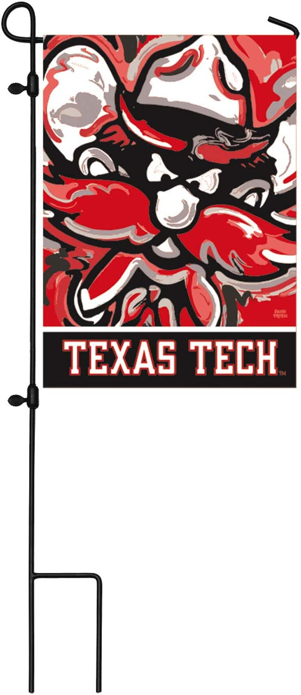 Team Sports America NCAA Texas Tech University Suede Garden Flags
