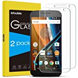 [2 Pack] Moto G4 Screen Protector, [NOT For Moto G4 plus & G4 Play] SPARIN Tempered Glass [Bubble-Easy Installation] Screen Protector for Moto G4
