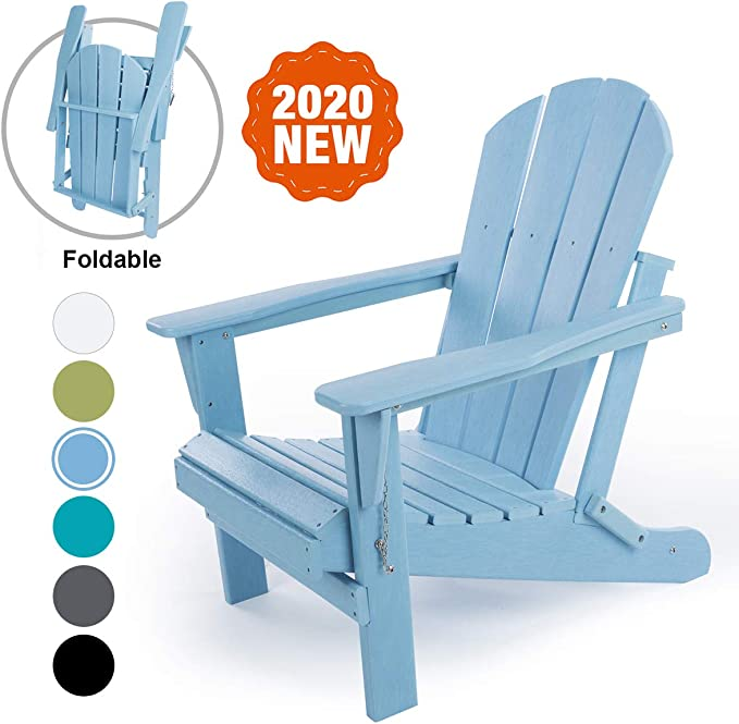 LAYRIAR HDPE Classic Outdoor Foldable Adirondack Chair - Best Foldable Chair