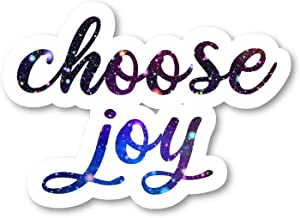 Choose Joy Sticker Inspirational Quotes Galaxy Stickers - Laptop Stickers - 2.5 Inches Vinyl Decal - Laptop, Phone, Tablet Vinyl Decal Sticker S211129