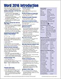 img - for Microsoft Word 2016 Introduction Quick Reference Guide - Windows Version (Cheat Sheet of Instructions, Tips & Shortcuts - Laminated Card) book / textbook / text book