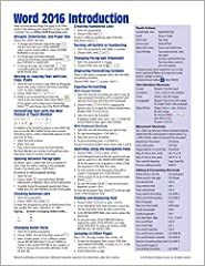 Laminated quick reference guide showing step-by-step instructions and shortcuts for how to use Microsoft Office Word 2016 (Windows Version). Written with Beezix's trademark focus on clarity, accuracy, and the user's perspective, this guide wi...