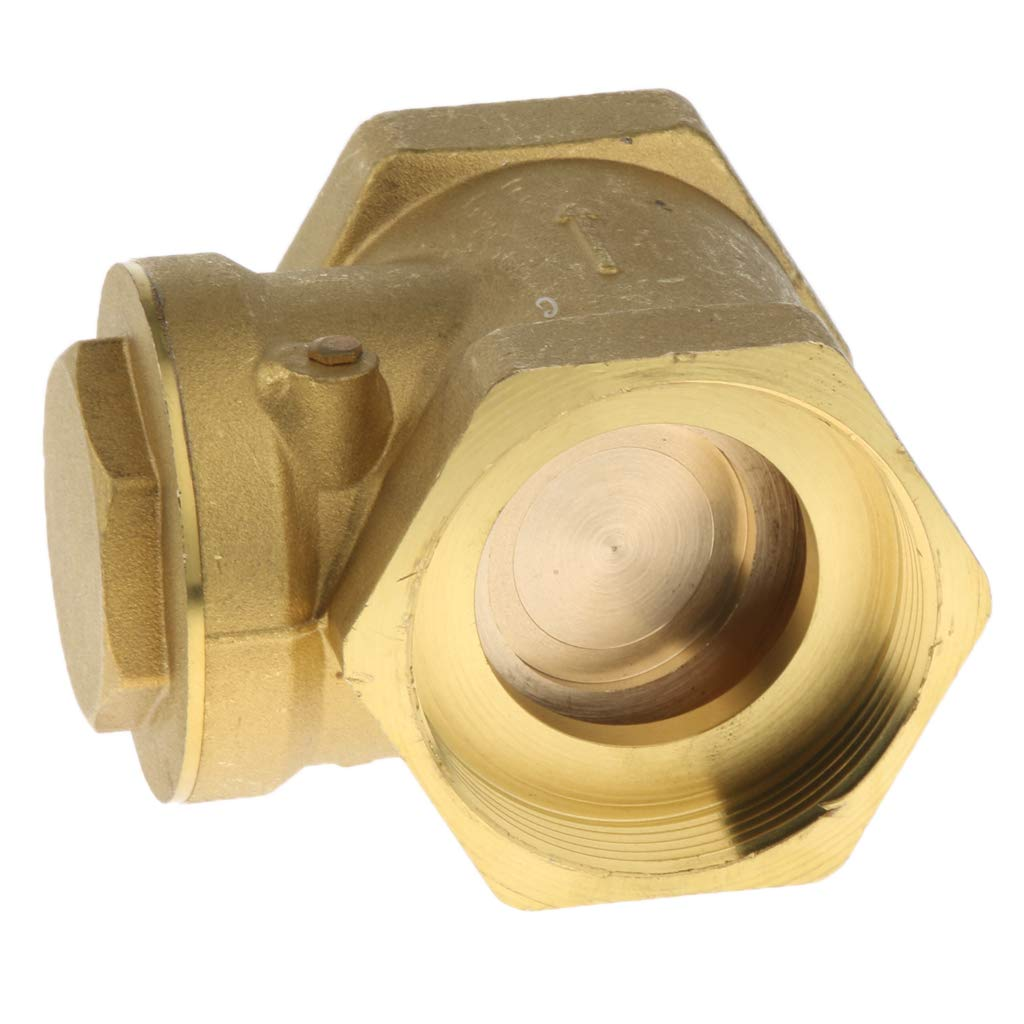 1-1/2-Inch Brass Swing Check Valve with Female Threaded, Brass Construction Higher Corrosion Resistance