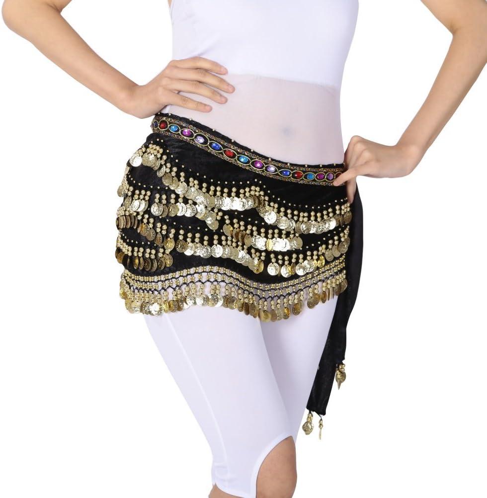 hougood 310 de la Lady disfraz de monedas de danza del vientre ...