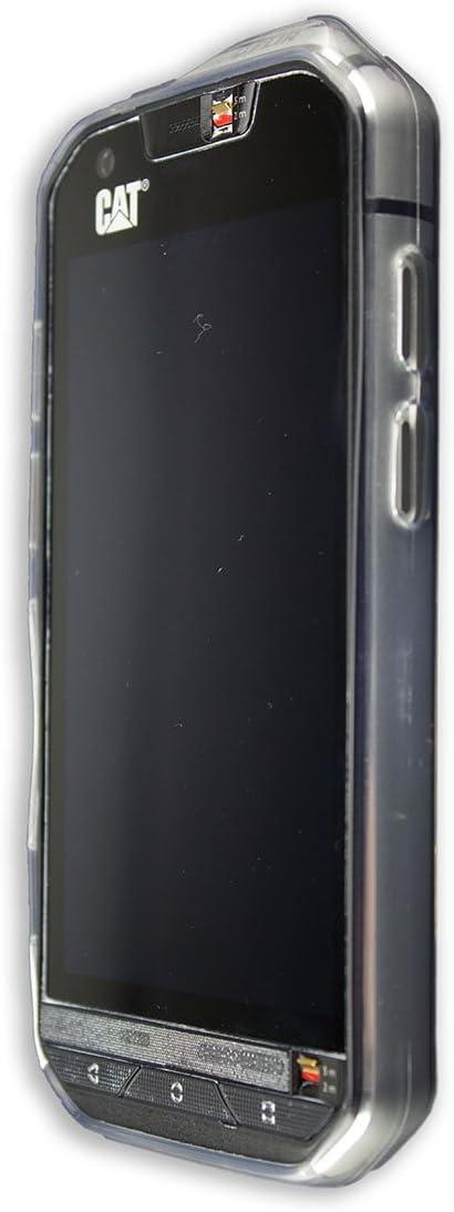 caseroxx TPU-Carcasa y Protector de Pantalla para Cat S60, Set ...