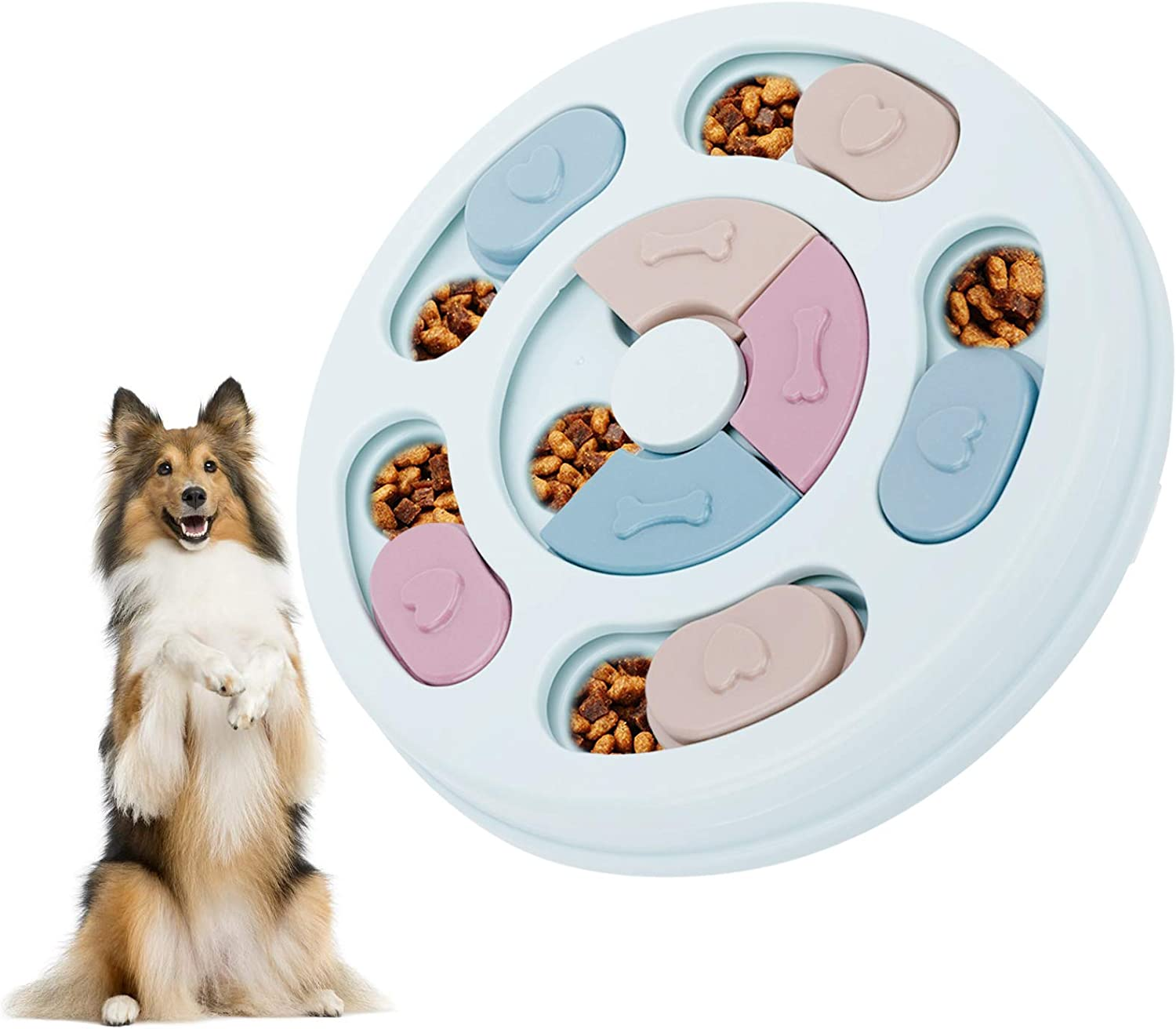 Dog Puzzle Toys, Interactive Puzzle Game Feeder Puppy Treat Training Food Slow Dispenser for Pet Prevent Boredom and Upset, IQ Training & Mental Enrichment
