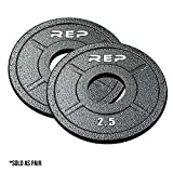 Rep Fitness Rep Gray Equalizer Iron Olympic Plates, 2.5 lb Pair