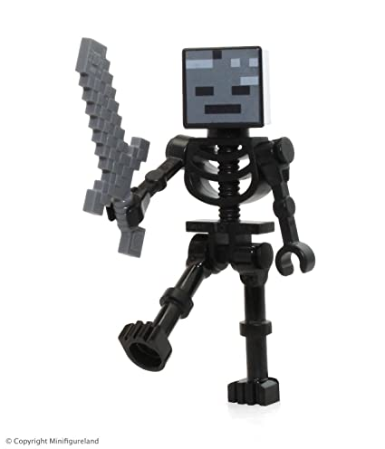 Amazon Com Lego Minecraft Wither Skeleton Minifigure With Sword