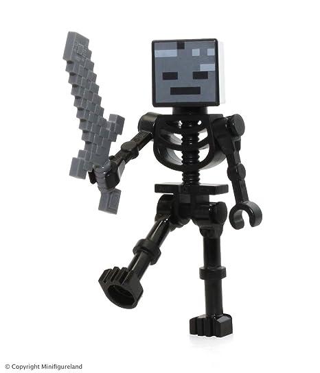 Amazon Com Lego Minecraft Wither Skeleton Minifigure With Sword