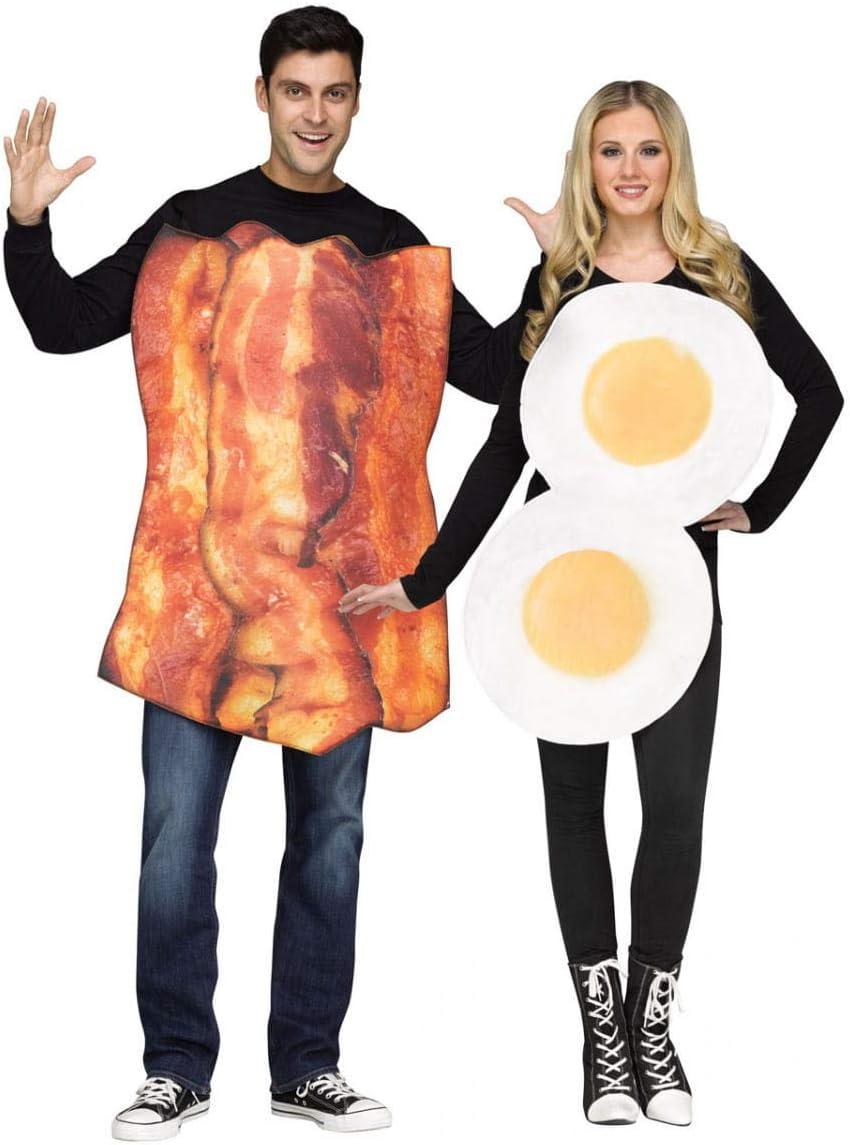 Horror-Shop Traje de pareja de huevo frito y tocino One Size ...