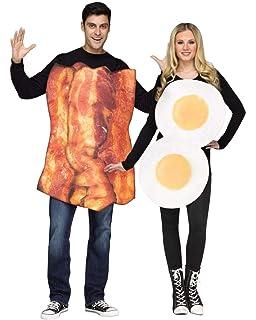 Unisex Herren Damen Fruhstuck Freunde Kostum Fur Eier Bacon Kostum