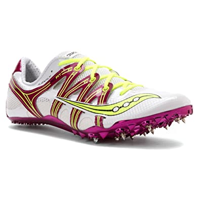 Womens Shoes Saucony Showdown White/Purple/Citron