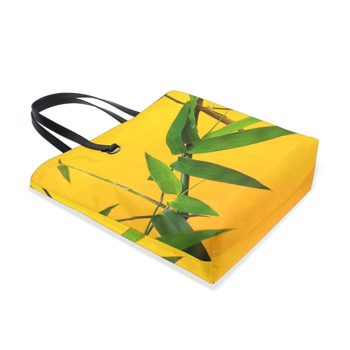 AHOMY Bamboo Leaf Lady Personalized casual Shoulder Bag Satchel Handbag Tote Bag Handbag for Women Girls