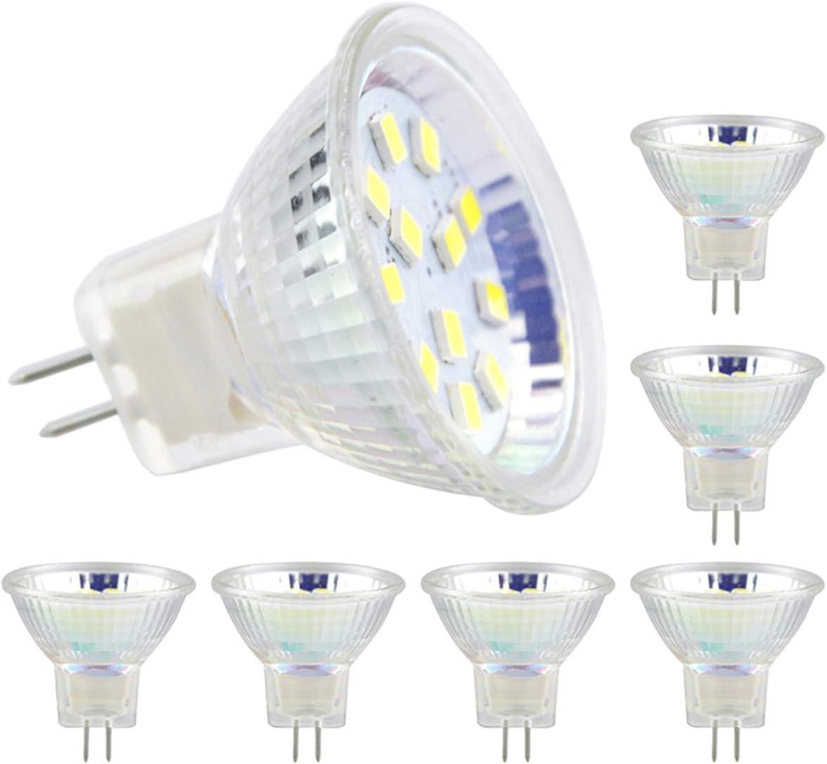 6pcs bombillas LED MR11 bombilla reflectora GU4 bombillas led 5W 18LEDs 20W 30W bombillas halógenas equivalentes no regulables bombilla LED 12V CA/CC para el paisaje en casa Iluminación de la pista