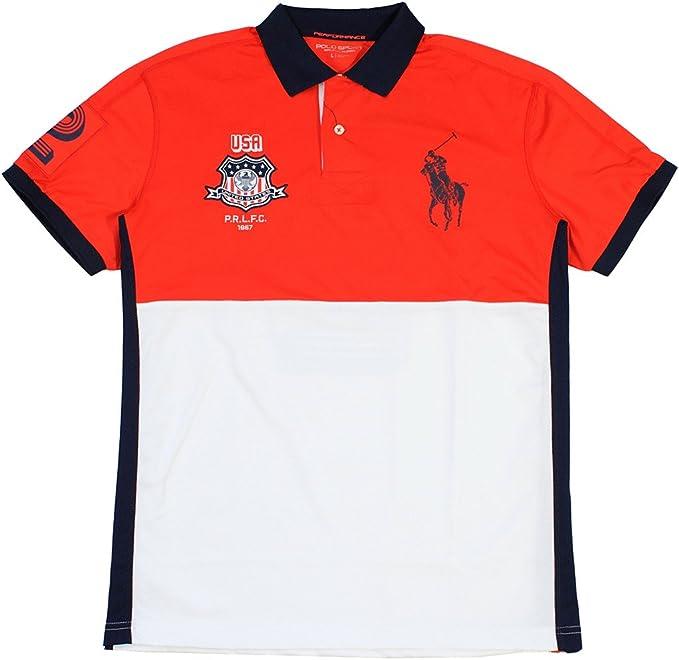 Polo Sport Hombre EE. UU. Rendimiento Malla Polo - Blanco ...
