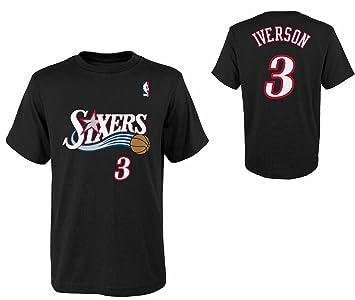 Philadelphia 76ers Allen Iverson # 3 tiempo de juego retro la juventud niños nombre & número