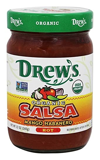 DREWS ALL NATURAL SALSA MNGO HBNRO HOT ORG 12OZ