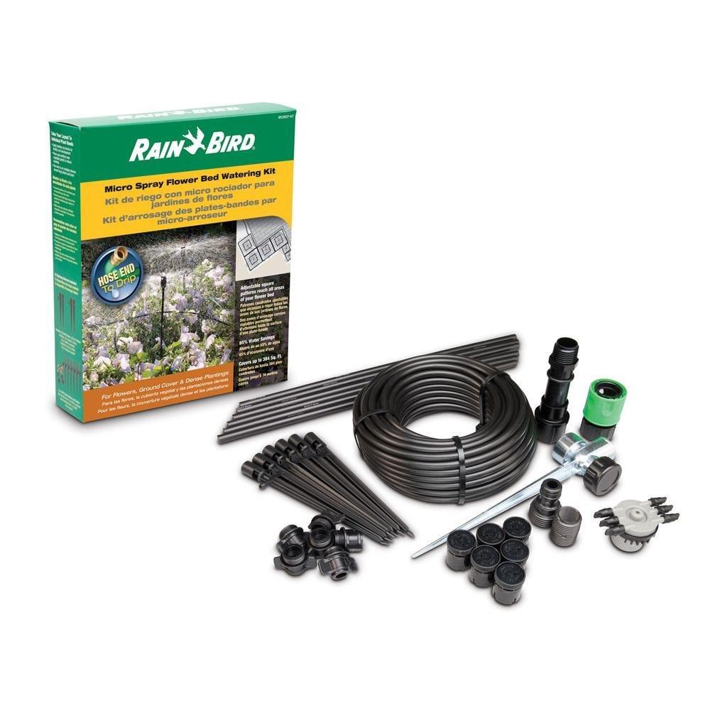 Rain Bird MSDMSPKIT Drip Irrigation Micro-Spray Flower Bed Watering Kit