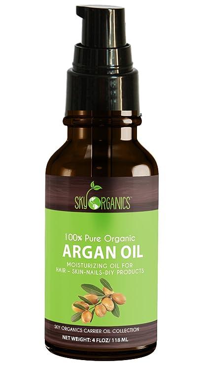 Sky Organics Aceite de Argán orgánico: sin refinar 100% puro