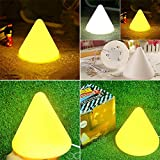 Led Pyramid Kingsoft Lamp Bookmarks Lamp Baby Table Lamp Ofhead Small Night Light Christmas Halloween,With White and Yellow Color Soft Light For Home (Yellow Light)