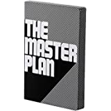 "Nuuna Graphic L ""The Master Plan"" Smooth Bonded Leather Notebook - Black"