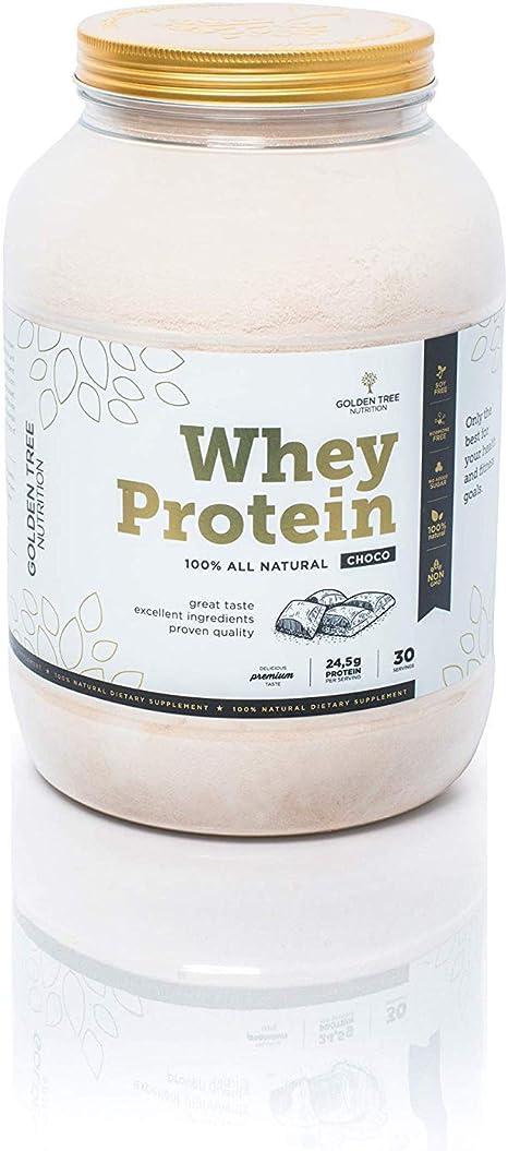 Whey Protein | Polvo de proteína de suero 1kg | 100% Ingredientes Todo-Naturales | Delicioso sabor a chocolate natural | Sin azúcar añadido | Sin ...