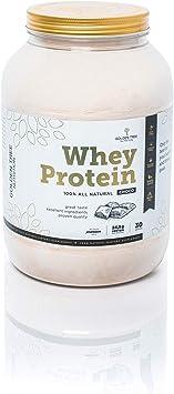 Whey Protein   Polvo de proteína de suero 1kg   100% Ingredientes Todo-Naturales   Delicioso sabor a chocolate natural   Sin azúcar añadido   Sin ...