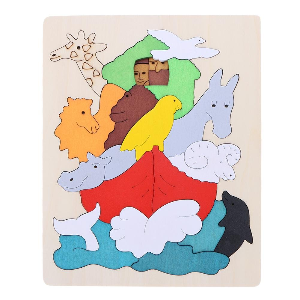 2019年新作入荷 Domybest 2-6歳 幼稚園 木製 B077HV44N6 木製 キッズ 子供 立体パズル 創意プレゼント オモチャ 人気 積み木 子供向けパズル 創意プレゼント 動物園 B077HV44N6, 博多ハシケン夢:60bc93c7 --- vezam.lt