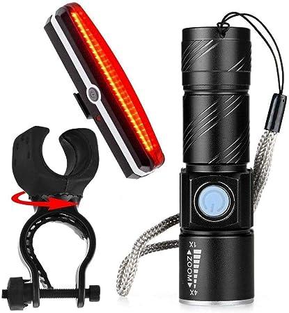 Nosii USB Recargable Zoomable Steam Light Linterna LED MTB ...