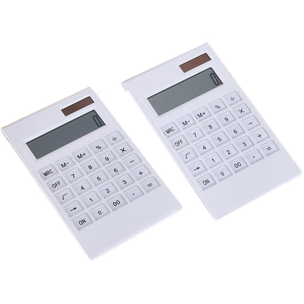 Taschenrechner B/üro und Schule Free Size wei/ß modisch Taschenrechner mit Kristallknopf einfach 12 Ziffern