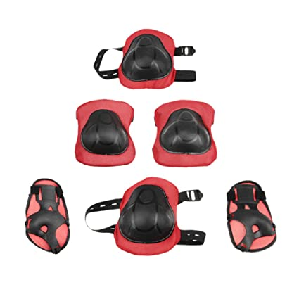 f20bd58e020e Holiberty Kids  Professional 6 PCS Sports Protective Gear Knee and Elbow  Palm safety pad Safeguard