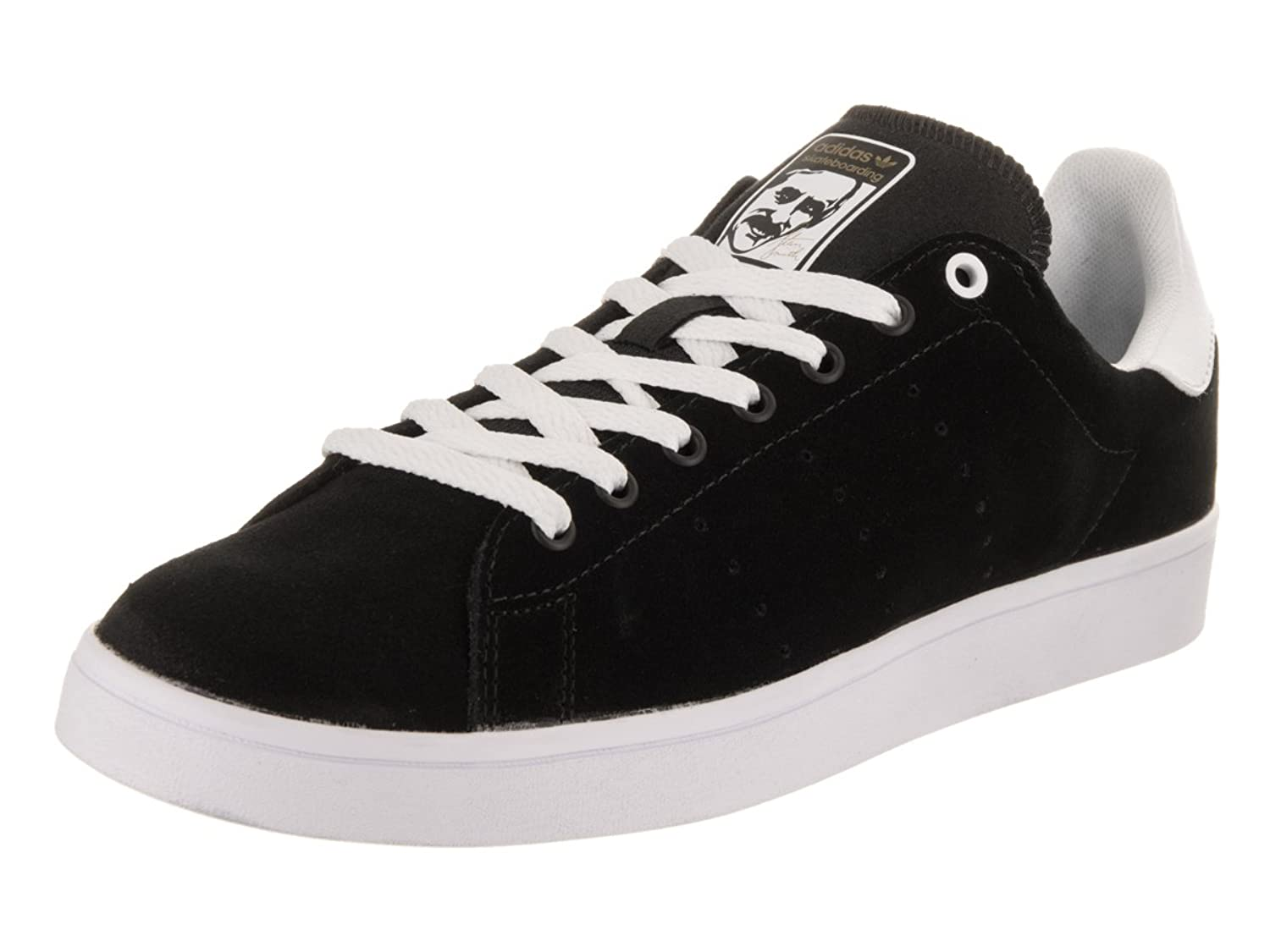adidas shoes black and white low top. adidas originals men\u0027s stan smith vulc shoes black and white low top