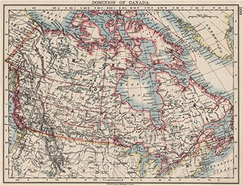 Map Of Canada 1900.Amazon Com Dominion Of Canada Showing New Provinces In Red