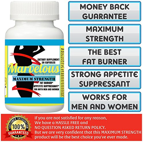 1 BOTTLE (30 CAPSULES) MARVELOUS SLIMMING MAXIMUM STRENGTH WEIGHT LOSS SUPPLEMENT.