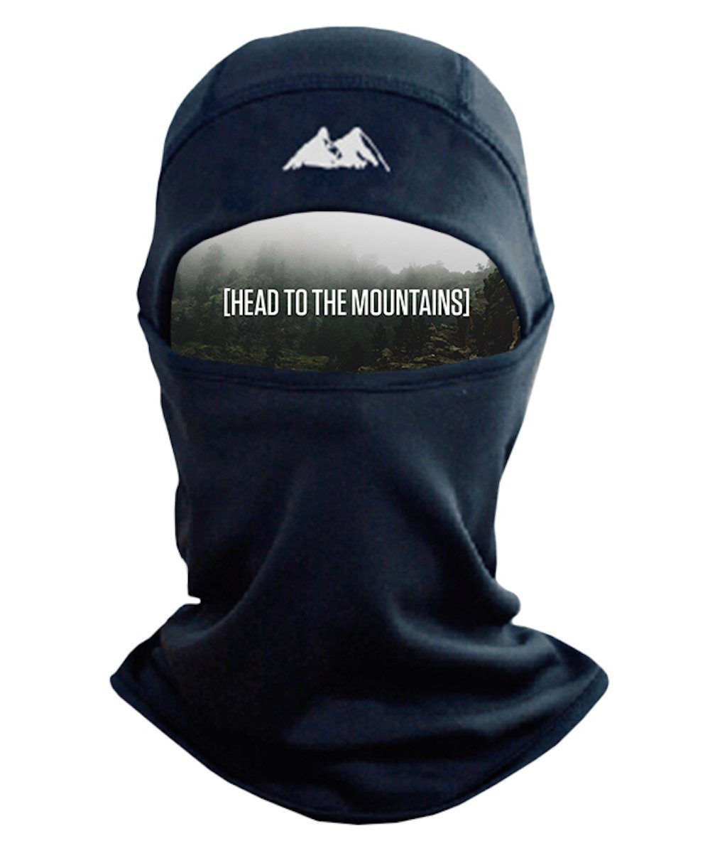 Mountain Made Balaclava Thermal Polyester Fleece Face Mask, Black, One Size