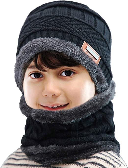 G5 APPAREL Kids Winter Beanie Hat with LED Lights Ages 5-12 Boys Girls