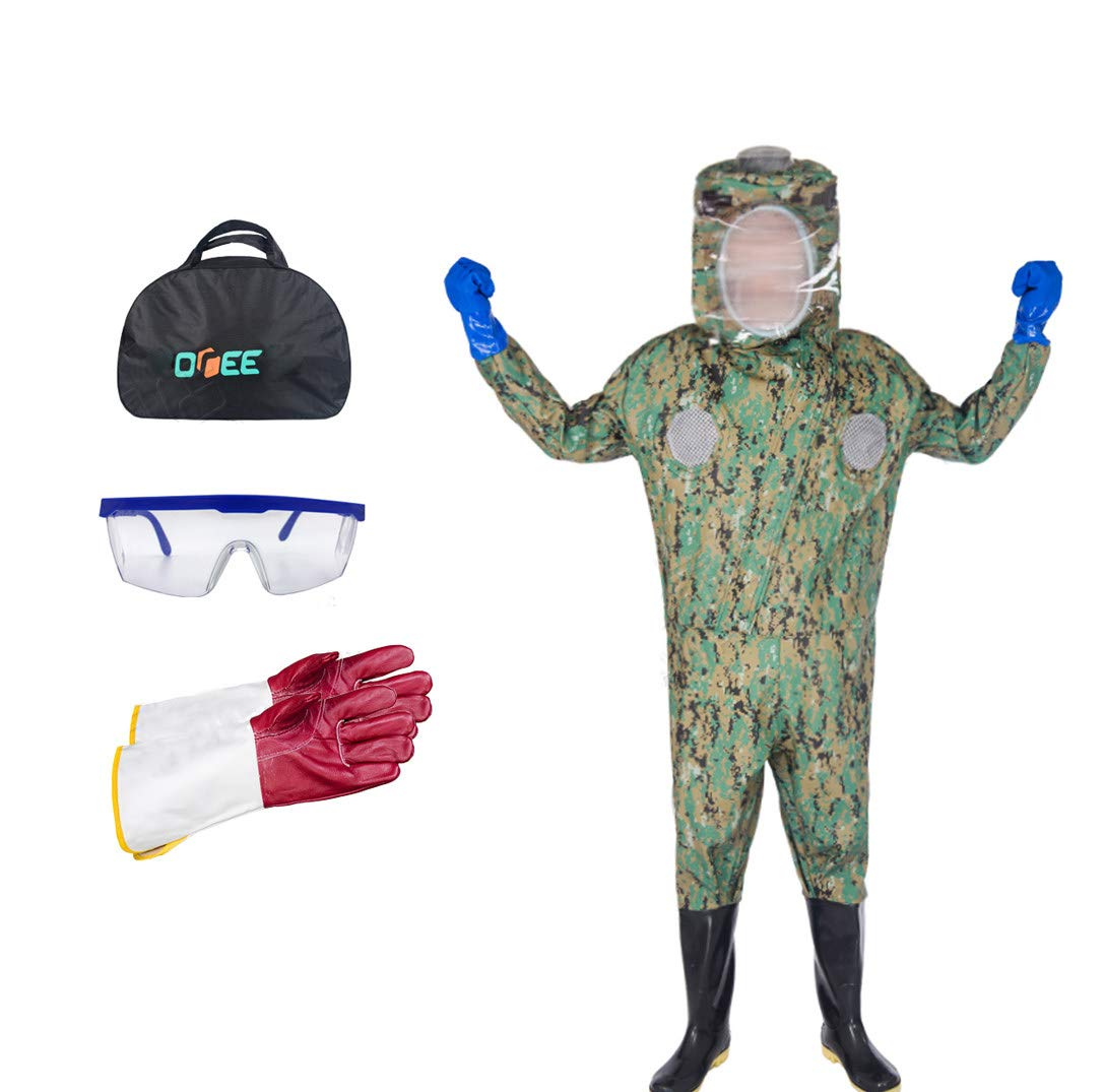 Camouflage S Camouflage S APENCHREN Beekeeping Suit Beekeeping Predect, Beekeeping Clothing with veil, Work Clothes for Apiary, Bee House, Farm and Apiarist,Camouflage-S