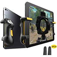 PUBG Ipad Trigger Controller Capacitance L1R1 Fire Aim Button Gamepad Joystick Continuous click For Ipad Tablet, with 2pcs Gaming Finger Sleeve