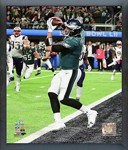 Philadelphia Eagles Framed Wall - Nick Foles Philadelphia Eagles Super Bowl LII Action Photo (Size: 17