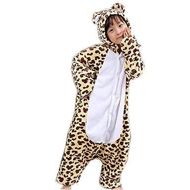 2801824531ea Amazon.com  Fancyww Children Leopard Bear Pajamas Cartoon Costume ...