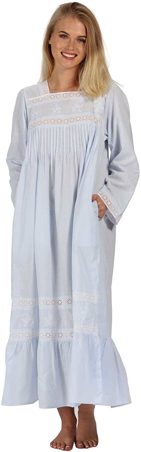 The 1 for U 100% Cotton Nightgown Violet with Pockets 7 Sizes