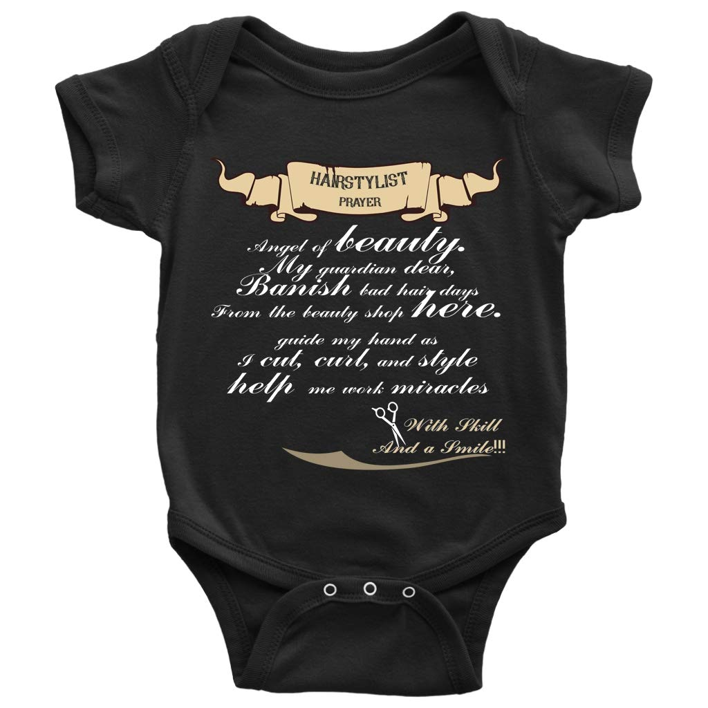 d6486f8b1220 Amazon.com  Hair Stylist Prayer Baby Bodysuit