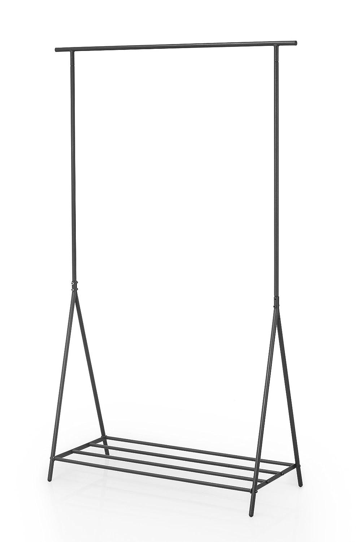 Einzelstange dunkel NEUN WELTEN Kleiderb/ügel Caecias mit Einem industriellen und einfachen Ausdruck hoch