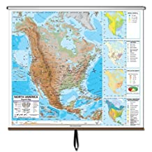 North America Advanced Physical Wall Map Roller
